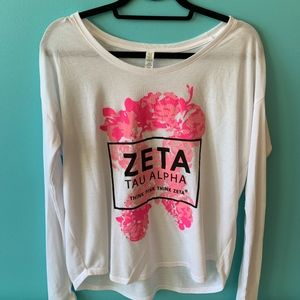 Zeta Tau Alpha - think pink long sleeve